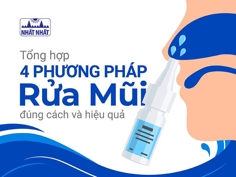 Tổng hợp 4 phương pháp rửa mũi đúng cách và hiệu quả