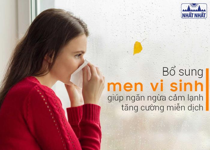 Bổ sung men vi sinh giúp ngăn ngừa cảm lạnh, tăng cường miễn dịch