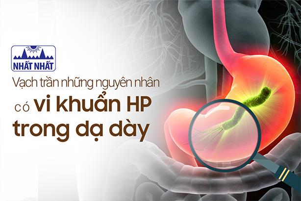Vạch trần những nguyên nhân có vi khuẩn HP trong dạ dày