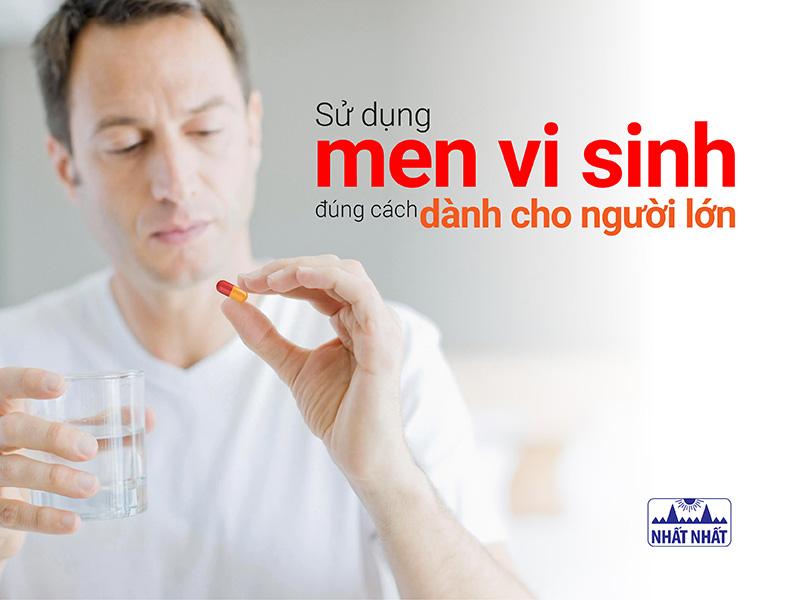 Sử dụng men vi sinh đúng cách dành cho người lớn