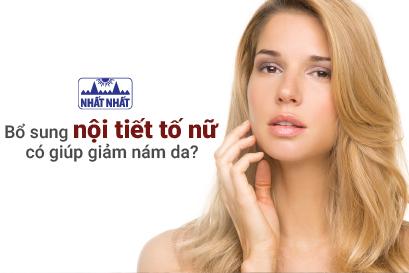 Bổ sung nội tiết tố nữ có giúp giảm nám da?