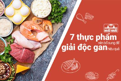 7 thực phẩm nên bổ sung để giải độc gan một cách tự nhiên
