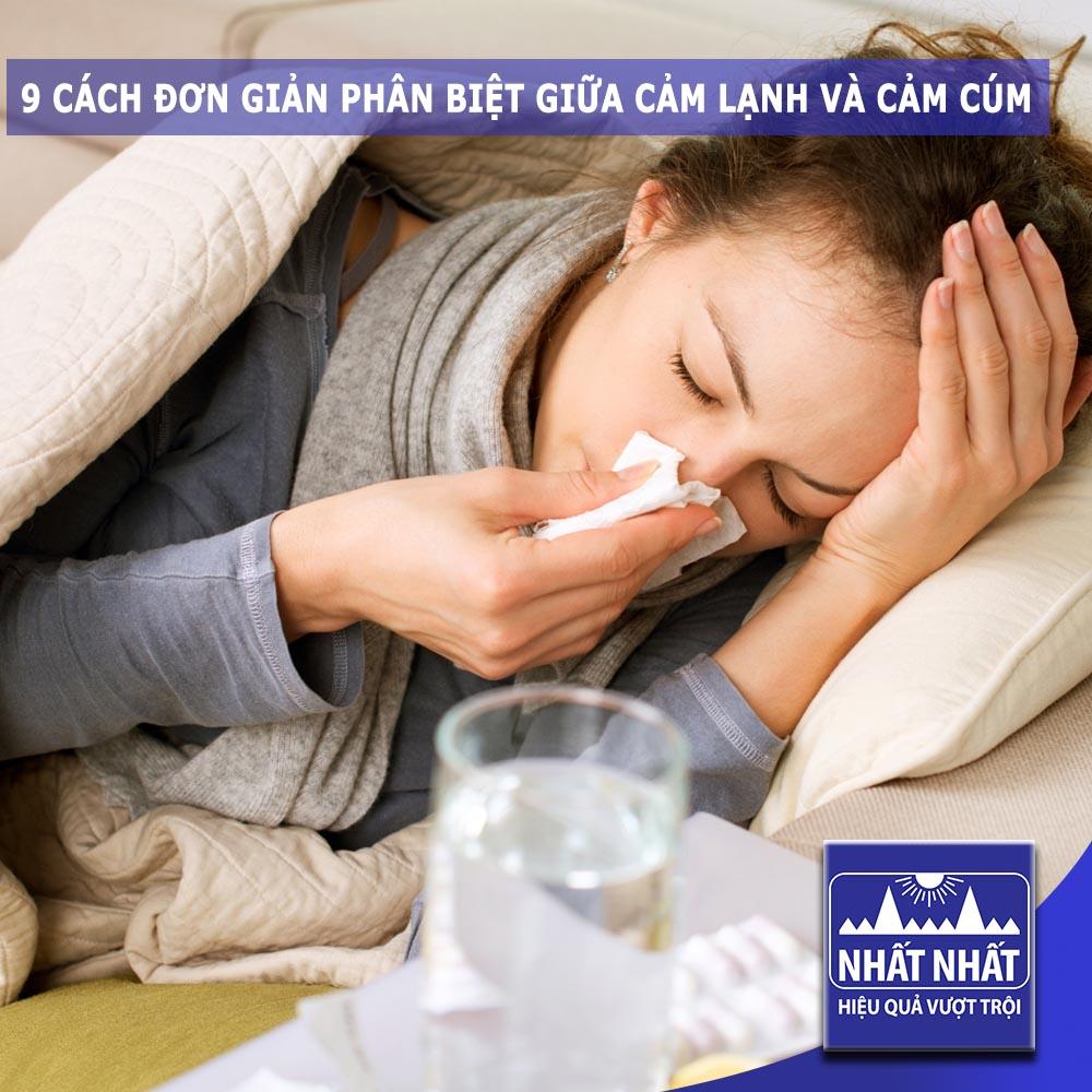 9 cách đơn giản phân biệt giữa cảm lạnh và cảm cúm