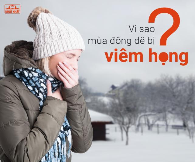 Vì sao mùa đông dễ bị viêm họng?
