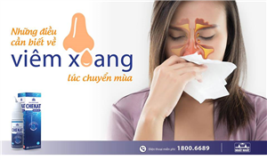 Những điều cần biết về bệnh viêm xoang mũi lúc chuyển mùa
