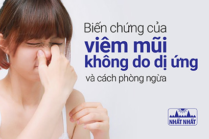 Biến chứng của viêm mũi không do dị ứng và cách phòng ngừa