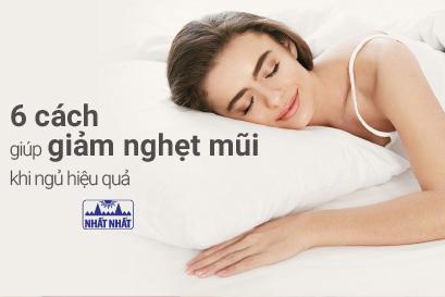 6 cách giúp giảm nghẹt mũi khi ngủ hiệu quả