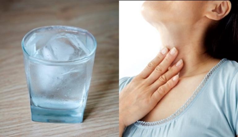 bệnh viêm họng có nên uống nước đá
