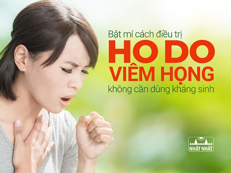 Bật mí cách điều trị ho do viêm họng không cần dùng kháng sinh