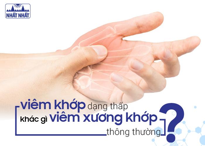 Viêm khớp dạng thấp khác gì viêm xương khớp thông thường?