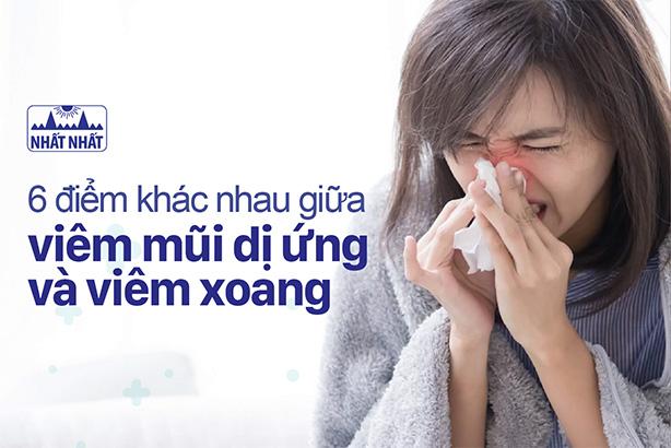 6 điểm khác nhau giữa viêm mũi dị ứng và viêm xoang