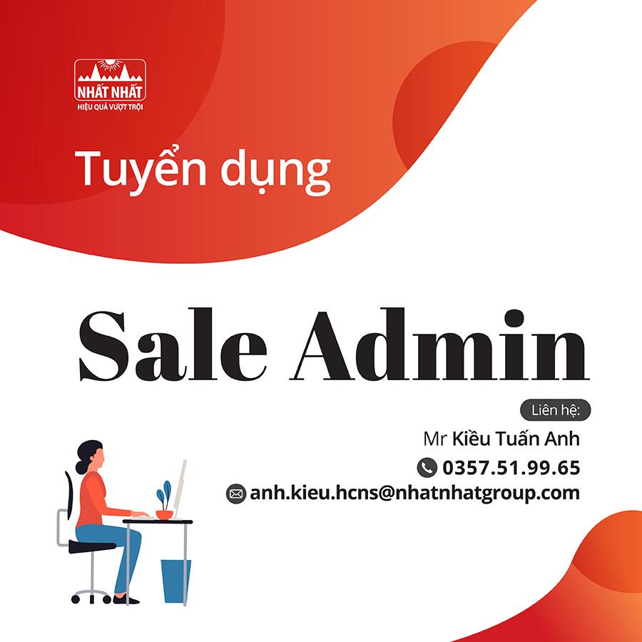 Tuyển dụng nhân viên Sale Admin