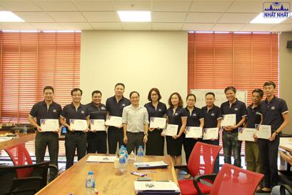 Nhất Nhất đào tạo và cấp chứng nhận ISO 9001:2015 cho CBNV