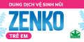 Dung dịch vệ sinh mũi Zenko trẻ em - chân trang